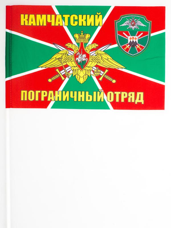 Купить флажок на палочке «Камчатский погранотряд»