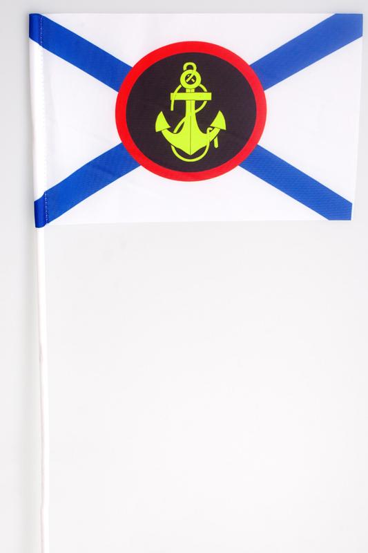 Купить флажок на палочке «Морская пехота России»