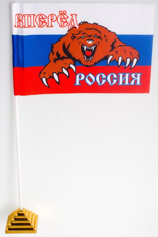 Купить настольный маленький флаг России