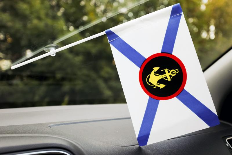 """Купить флажок в машину """"Войска морской пехоты"""""""