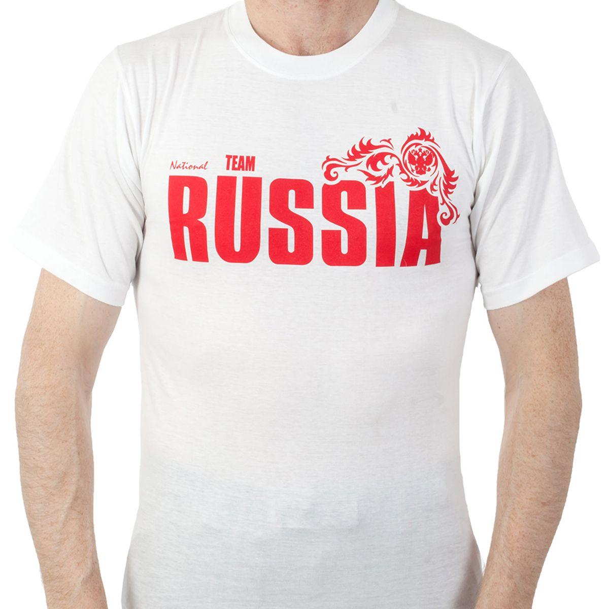 "Купить футболка ""RUSSIA"" белую"