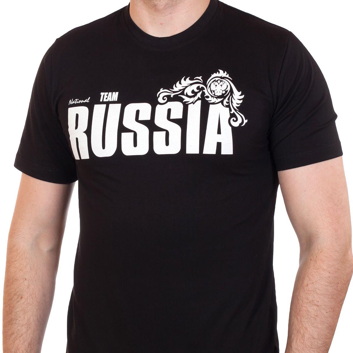 Купить футболку «RUSSIA» чёрную