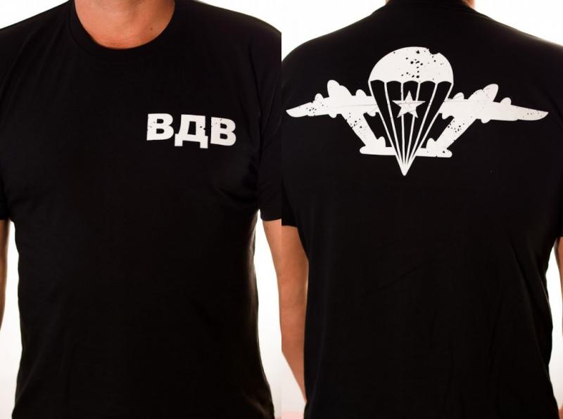 Купить футболку ВДВ «Крылья» черного цвета