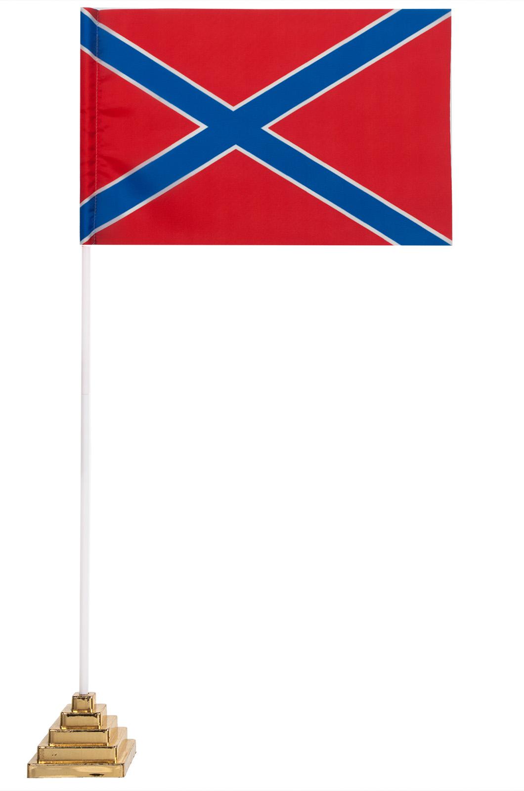 Купить настольный красно-синий флажок Новороссии