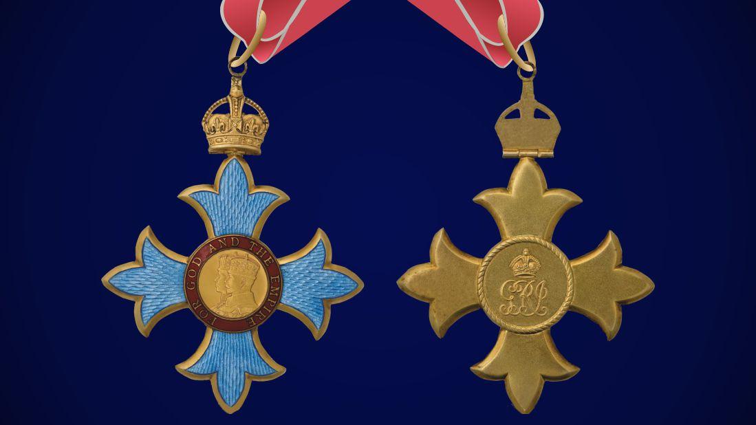Аверс и реверс Ордена Британской империи