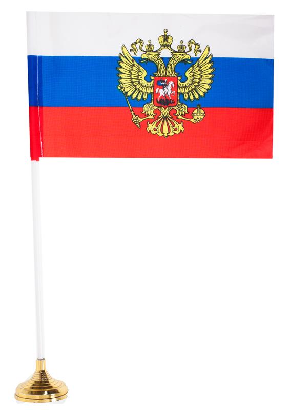 Купить российский флаг с гербом