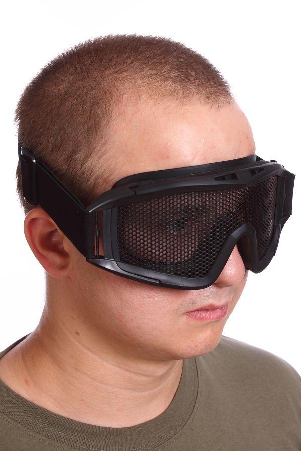 Линзы сетчатых очков Goggle изготовлены из ударопрочной стальной армированной стали
