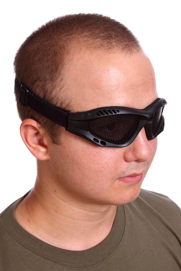Купить защитные очки Goggle чёрные (сетка)