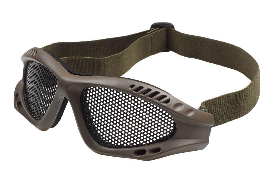 Защитные очки Goggle хаки-олива (сетка)